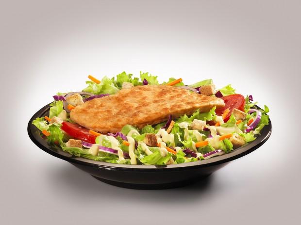 Salada de frango grelhado do Bob's (Foto Divulgação)