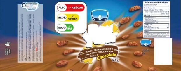 Exemplo de rótulo de produto do Equador (Divulgação Ministério de Salud Pública - Equador)