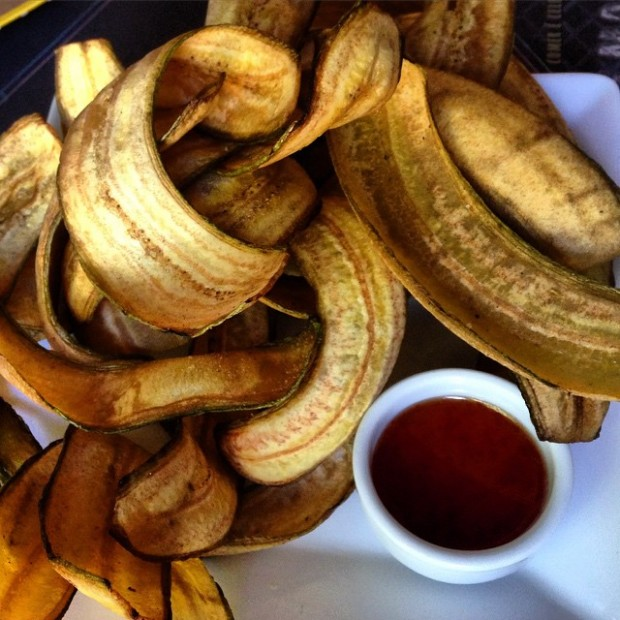 Chips de banana com geleia de pimenta publicado no Facebook da nutricionista